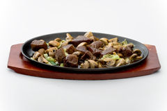 Beef with mushrooms Royalty Free Stock Images