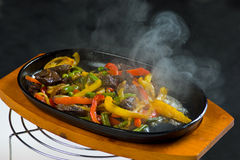Beef with mushrooms and vegetables Stock Photography