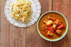 Beef mussaman curry eat with roti Stock Photography