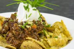 Beef nachos Stock Image