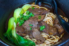 Beef noodle in Chinese style Stock Images