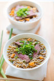 Beef noodle meal Stock Image