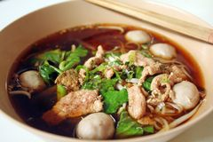 Beef noodle soup Royalty Free Stock Images