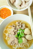 Beef noodle soup, Asian style in thailand Royalty Free Stock Images