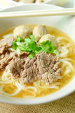 Beef noodle soup, Asian style in thailand Stock Photography