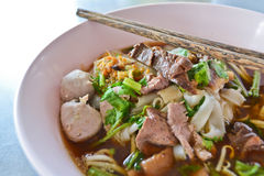 Beef noodle soup of thailand. Appetizing beef noodle soup of thailand Royalty Free Stock Photos