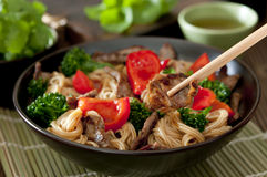 Beef and Noodle Stir Fry Stock Images