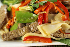 Beef Noodle Stirfry Royalty Free Stock Images