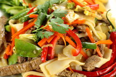 Beef Noodle Stirfry Stock Photo