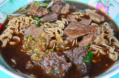 Beef noodle Thai style Stock Image