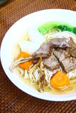Beef noodles. Chinese food in a restaurant royalty free stock images