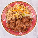 Beef and noodles Royalty Free Stock Photo