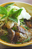 Beef noodles in soup asian style Royalty Free Stock Photos
