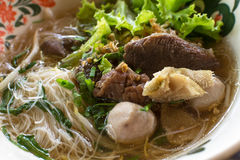 Beef Noodles Soup Stock Photos