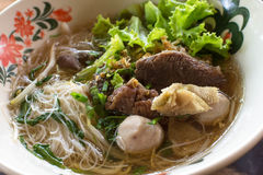 Beef Noodles Soup Stock Images