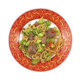 Beef noodles and vegetable meal Stock Photos