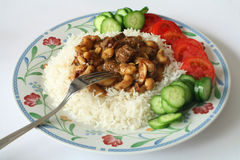 Beef and nut curry Royalty Free Stock Images
