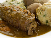 Beef olive stock photos
