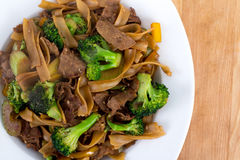 Beef Pad Sew stir fry Royalty Free Stock Photography