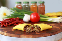 Beef Pastry. A Jamaican spicy beef patty Stock Image