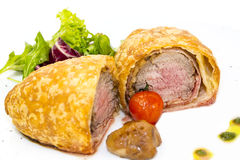 Beef in pastry Royalty Free Stock Images