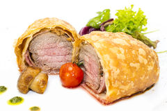Beef in pastry Royalty Free Stock Image