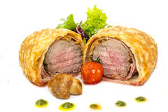 Beef in pastry Royalty Free Stock Photos