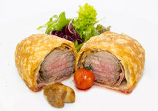 Beef in pastry Royalty Free Stock Photography