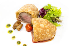 Beef in pastry Stock Photo