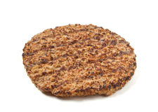 Beef patty. Cooked minced beef patty isolated on white background Stock Photo
