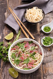 Beef pho and ingredient Royalty Free Stock Photography