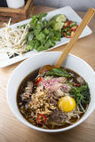 Beef Pho Noodle Soup Stock Photography