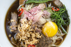 Beef Pho Noodle Soup Stock Image