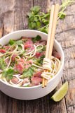 Beef pho soup Royalty Free Stock Photos