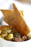 Beef Pie. With potatoes topped with pastry wedges Royalty Free Stock Photography