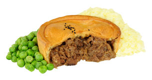 Beef Pie With Mashed Potato And Peas Royalty Free Stock Image