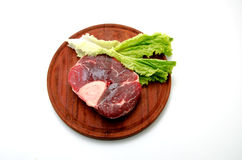 Beef. Piece of beef on a white background Stock Photos
