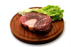 Beef. Piece of beef on a white background Stock Image