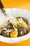 Beef pilaf with orange Stock Photos