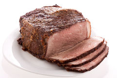 Beef on a plate Royalty Free Stock Image