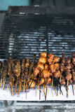 Beef,pork and chicken barbecue  stick Royalty Free Stock Photo