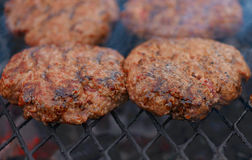 Beef or pork meat barbecue burgers Stock Photography