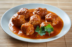 Beef and pork meatballs Royalty Free Stock Photography
