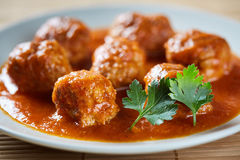 Beef and pork meatballs Stock Photography