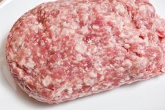 Beef and pork raw minced meat royalty free stock photos