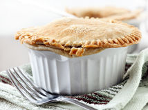 Beef pot pie closeup royalty free stock image