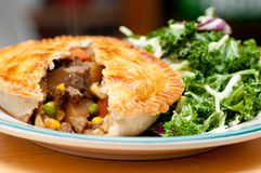 Beef pot pie Stock Photography
