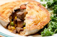 Beef pot pie Stock Images