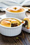 Beef pot pie in ramekin Stock Photos