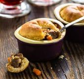 Beef pot pie in ramekin Royalty Free Stock Photography